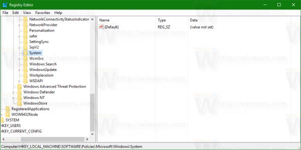 Windows 10 open policies key