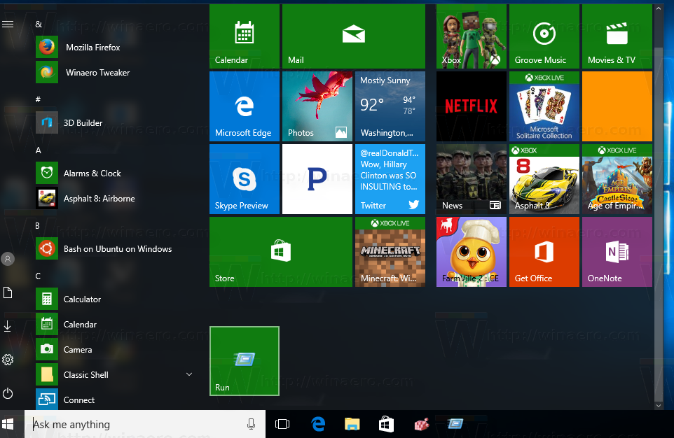 windows 10 how to pin apps to start