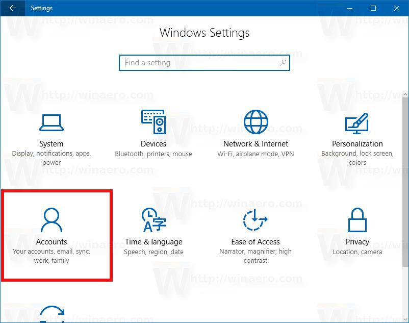 access windows 10 password