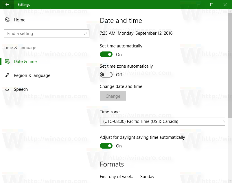 Configure Internet Time (NTP) options in Windows 10 ...