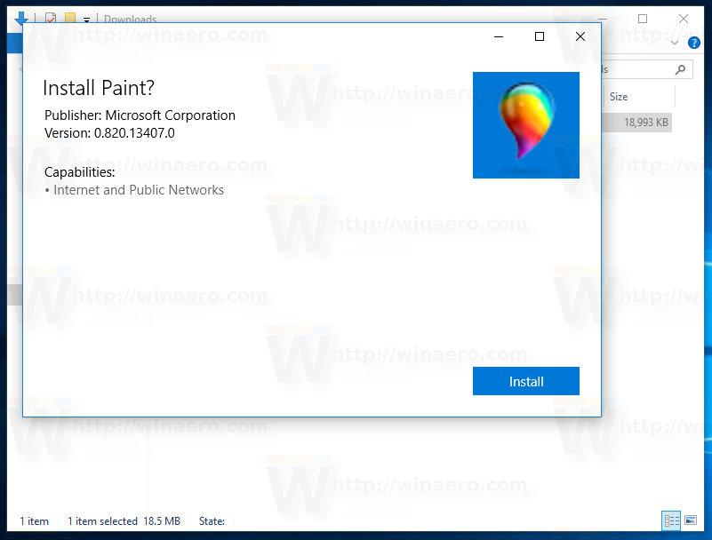 how to install the leaked paint app in windows 10