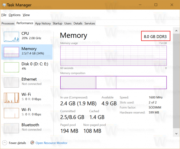 find-memory-type-windows-10