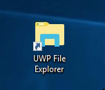 How to launch the Universal File Explorer app in Windows 10