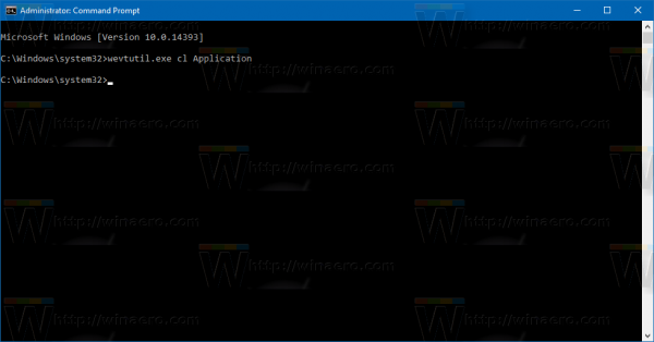 windows-10-clear-application-log-from-cmd