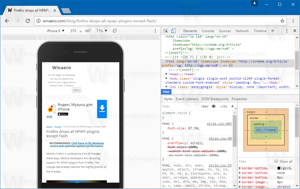 Make Screenshot Of Web Page With Device Frame In Chrome