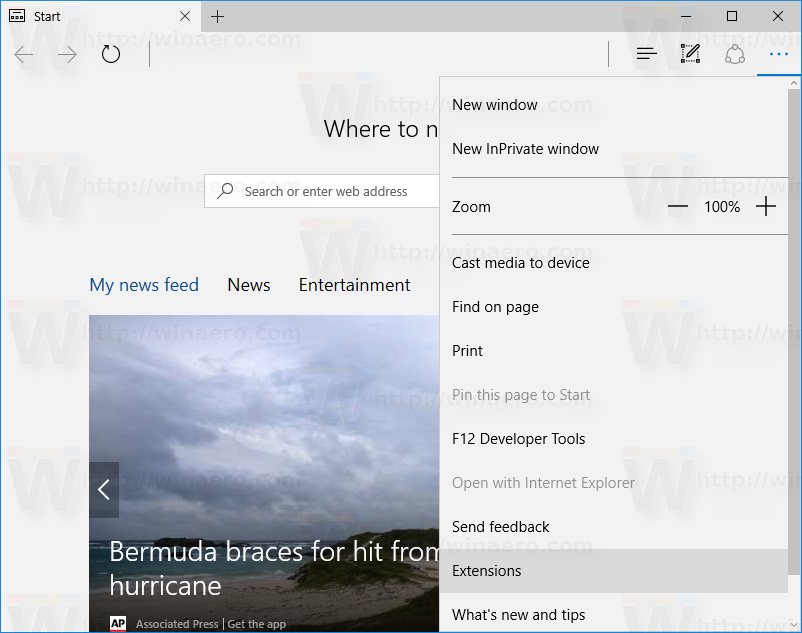 How to sideload an extension in Edge in Windows 10