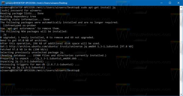 install-jq-in-bash-on-ubuntu