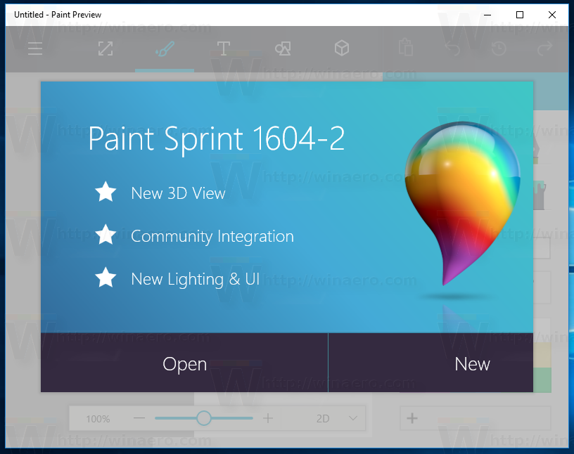 How to download and install new paint 3d for windows 10 for Microsoft paint download