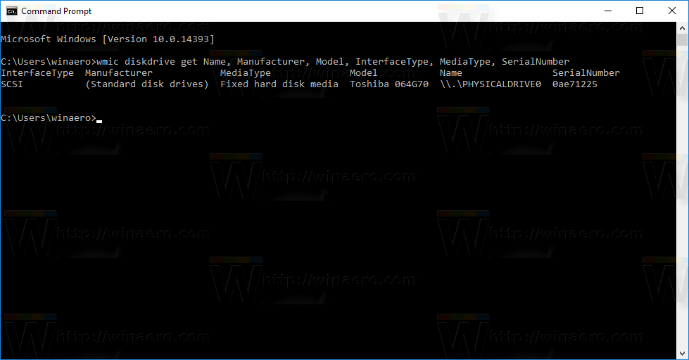 Get Disk Drive Information in Windows 10 with This Command