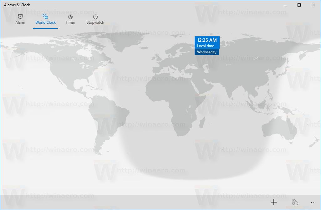 Pin world clock tile to start menu in windows 10 world clock page gumiabroncs Gallery