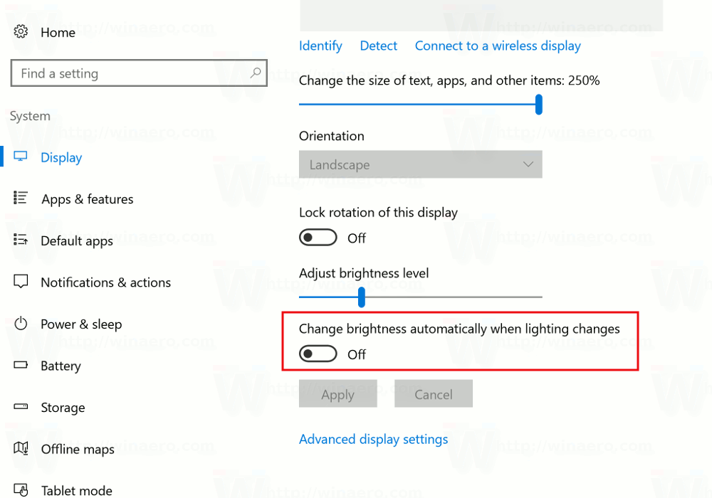 how to turn the brightness down on windows 10
