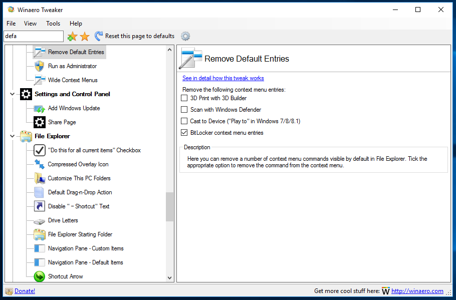 How to remove BitLocker from context menu in Windows 10