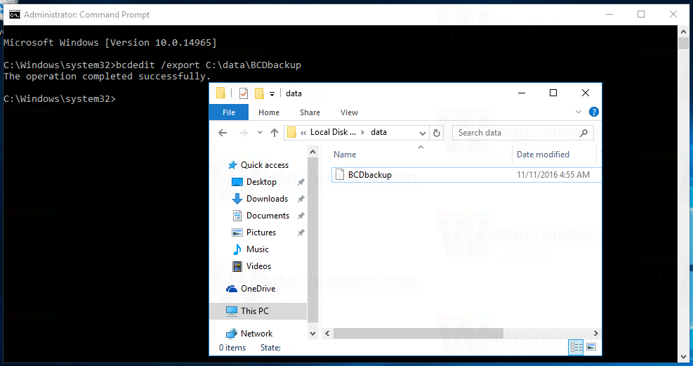 How to Backup and Restore Boot Configuration in Windows 10