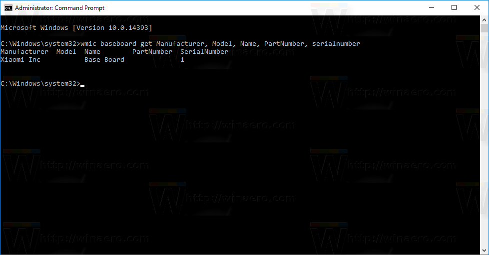 windows serial number command prompt