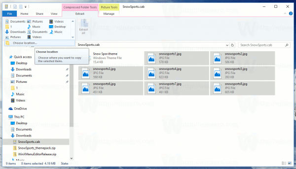 how to open cab files in windows 8