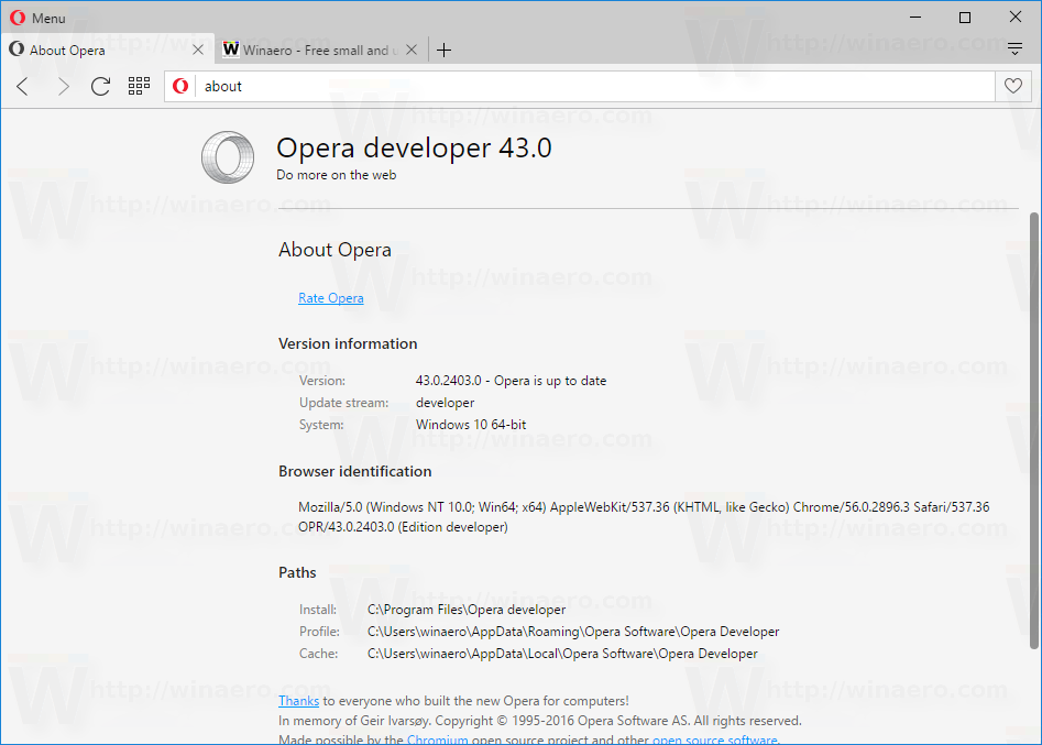 Opera 43 is getting Link text selection, Bookmark export and Native