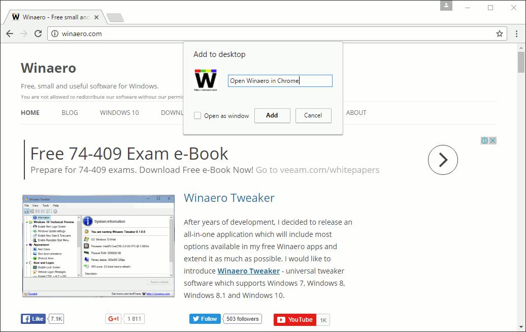 mac how to add webpage shortcuts to desktop