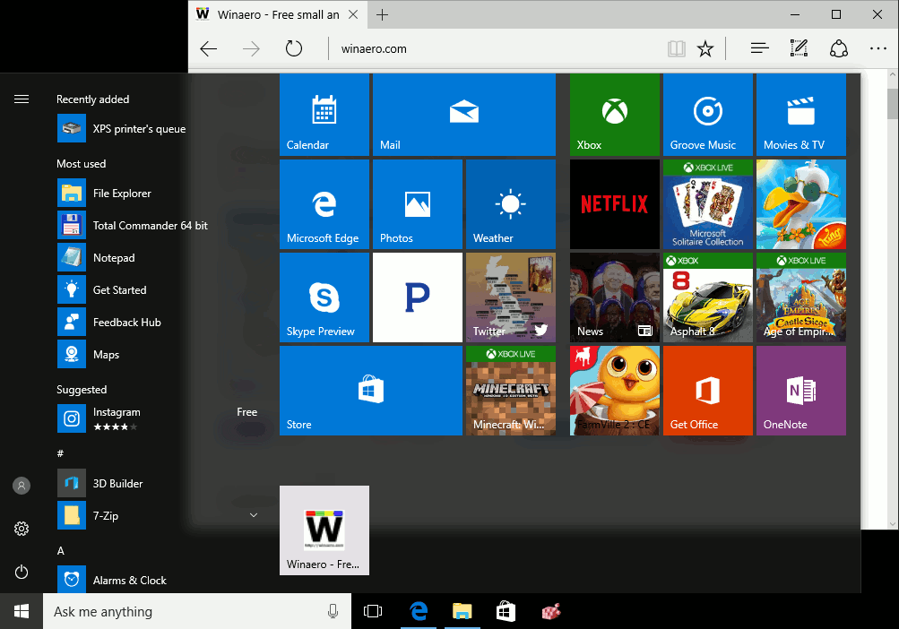 How to pin a website to the start menu in windows 10 for Windows 10 site