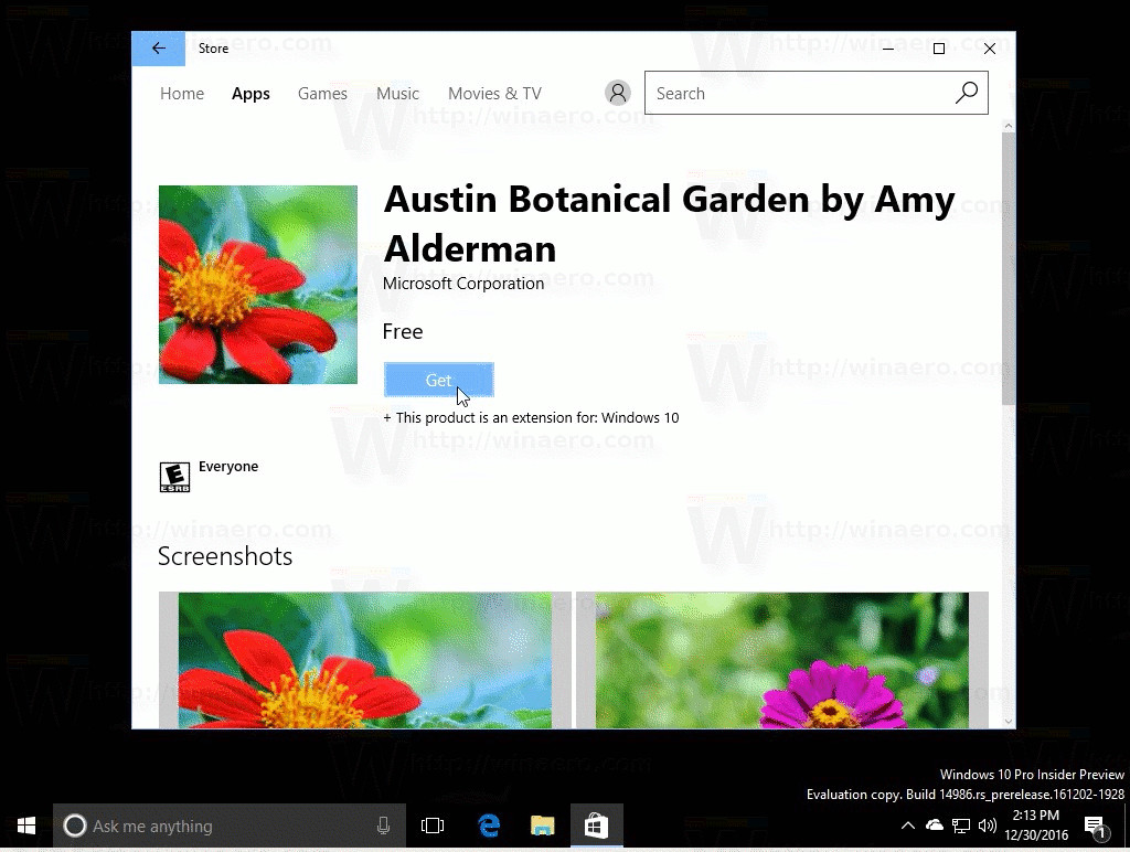 An updated Windows Store app released to Fast Ring Insiders