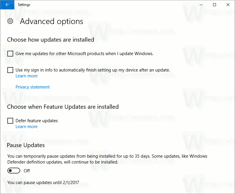 how to pause a windows uptate download