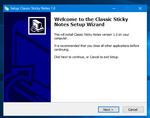 Old Classic Sticky Notes for Windows 10