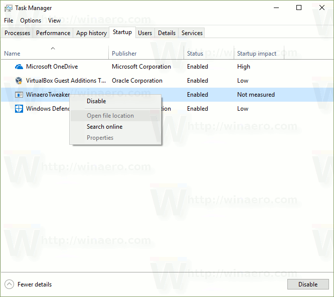 Remove Dead Entries from the Startup Tab in Task Manager