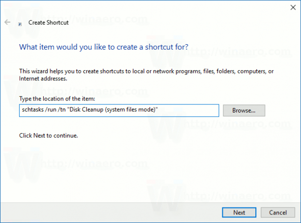 disk-cleanup-system-files-mode-create-shortcut