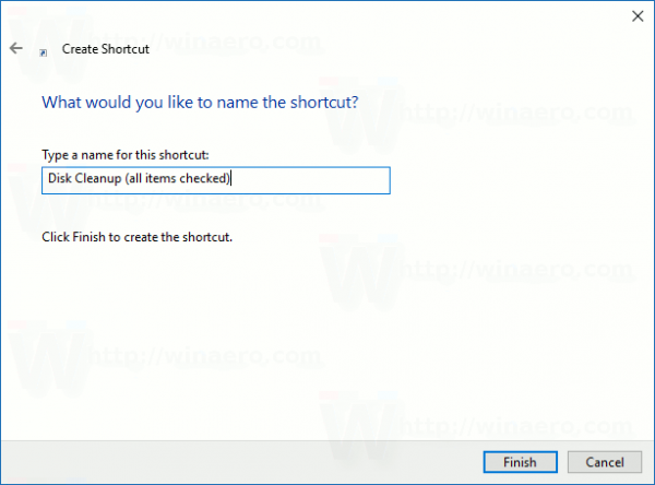 name-disc-cleanup-shortcut