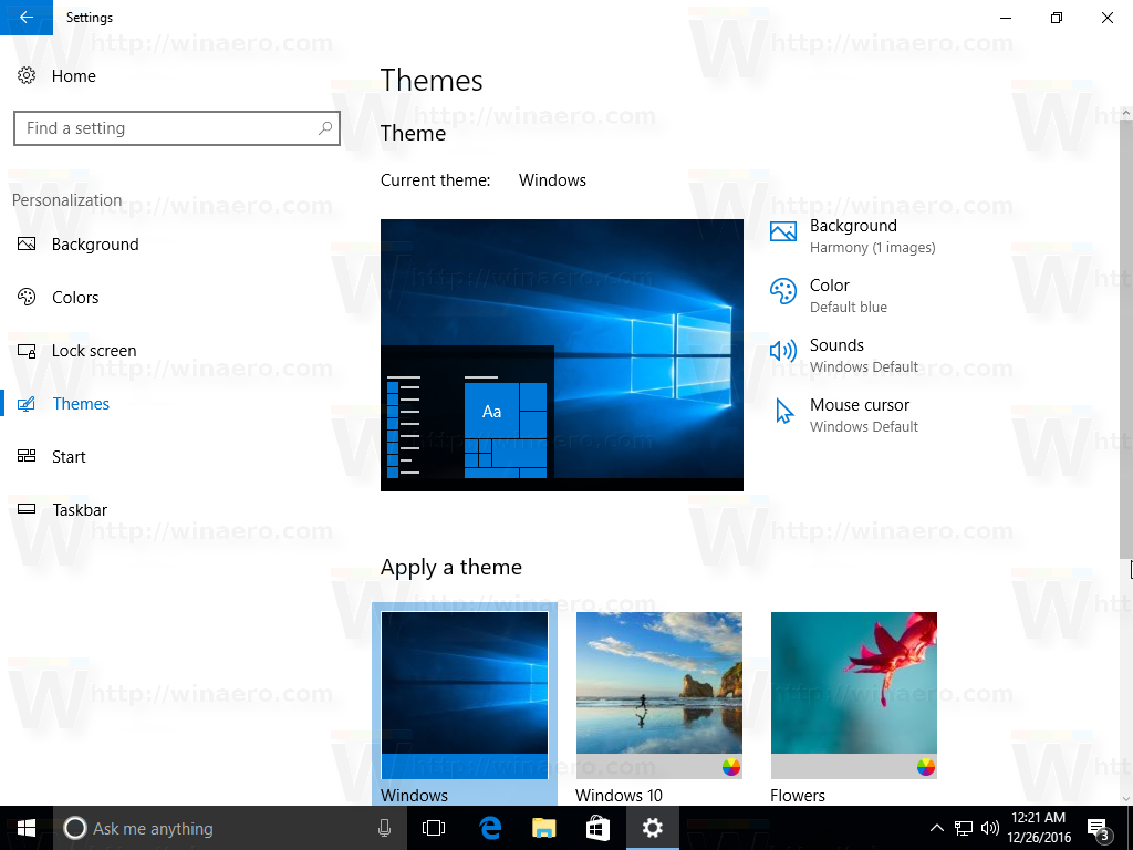 Windows 10 Appearance and Personalization