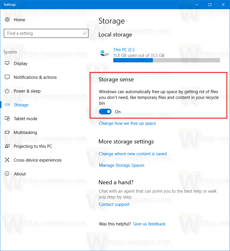 Clear Temporary Files Automatically In Windows 10