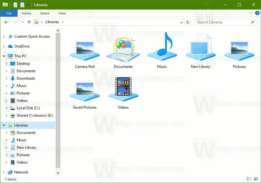 Change icons of default libraries in windows 10 for Download documents for windows