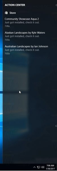 Download Progress Bar In Action Center In Windows 10