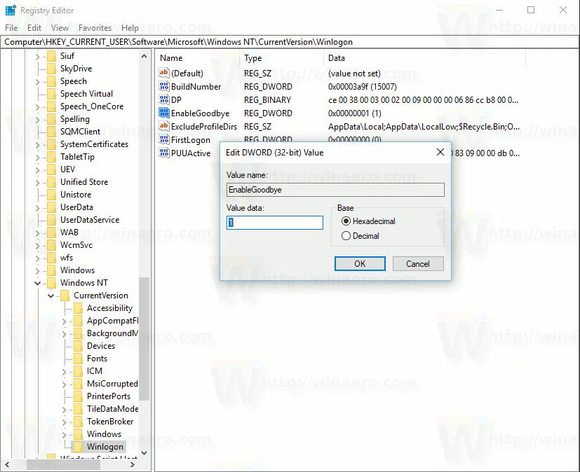 Enable Dynamic Lock Registry Tweak