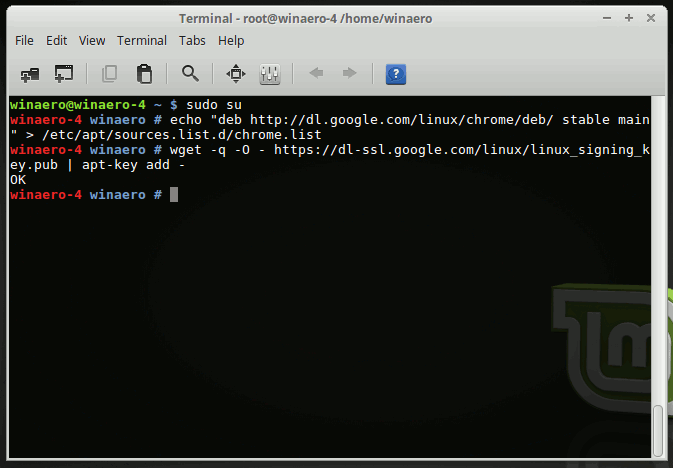Linux Mint Add Chrome GPG Key
