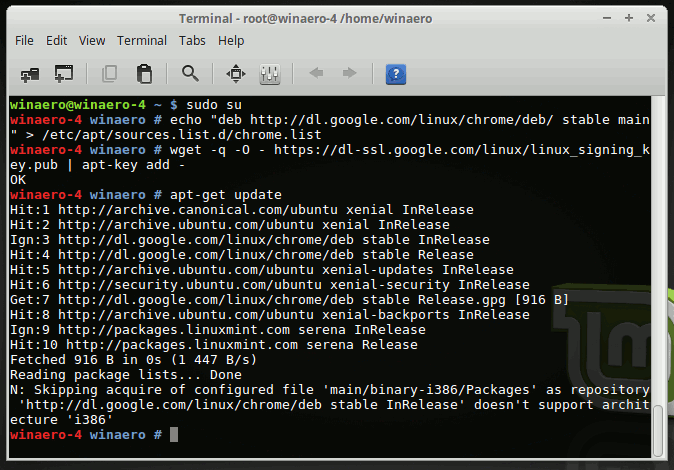 Linux Mint Apt Get Update Before Installing Chrome