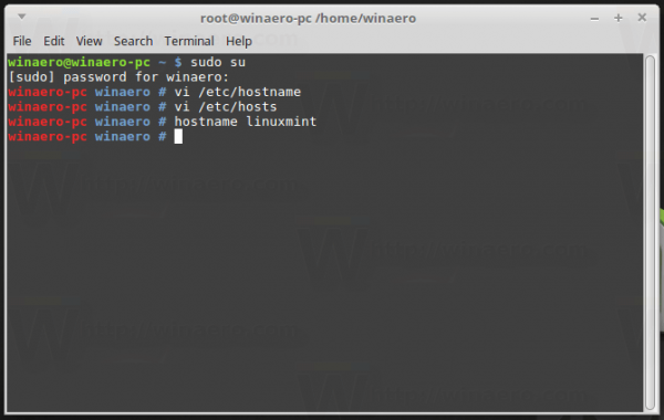 Mint Change Hostname In Runtime