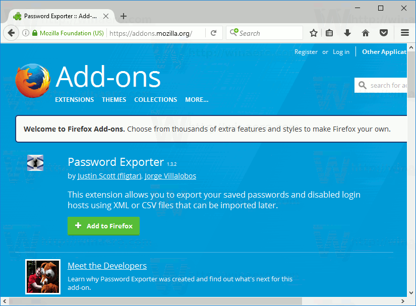 Export Saved Passwords in Firefox to a File