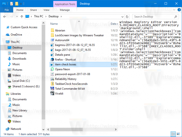 Preview Pane Context Menu In Action