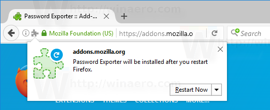 Restart Firefox When Prompted