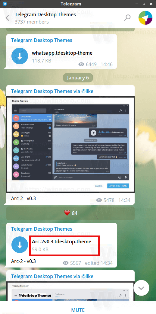 Telegram Desktop Install A Theme