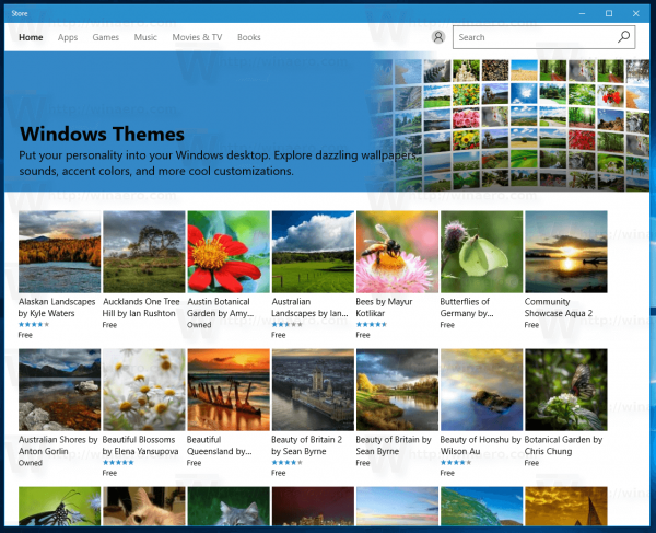Themes In Windows Store