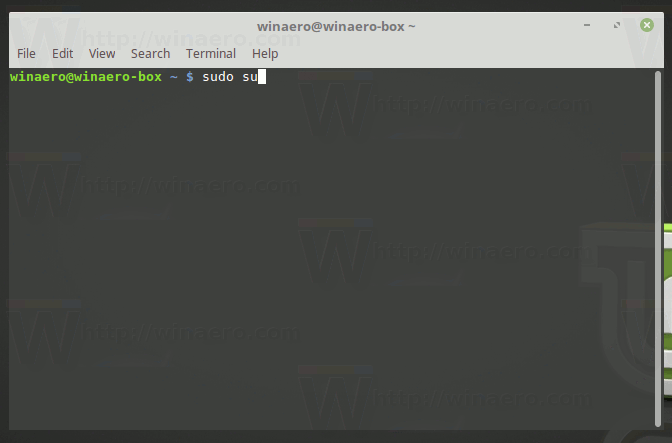 how to run terminal as root linux mint