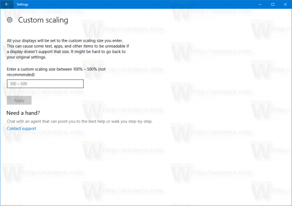 Windows 10 Custom Scaling
