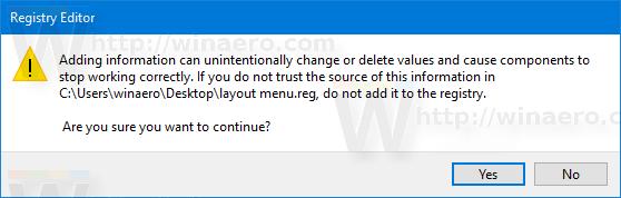 Windows 10 Layout Pane Import Tweak 2