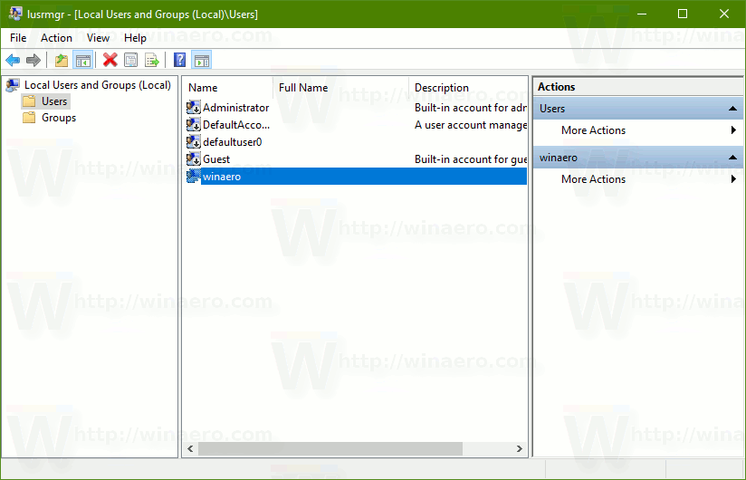how to add local user account in win 10
