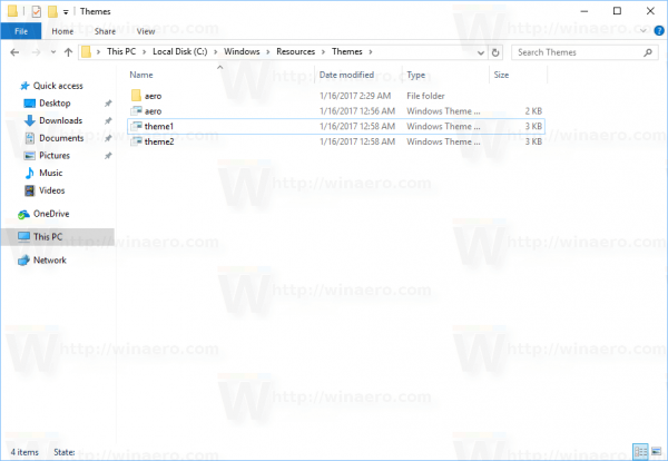 Windows 10 Default Themes