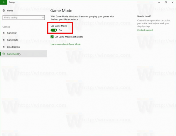 Windows 10 Enable Game Mode