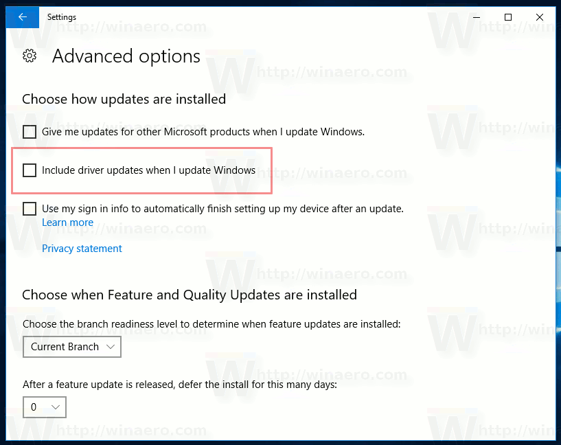 Windows 10 Exclude Drivers From Updates