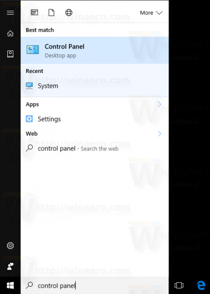 Windows 10 Open Control Panel From Search