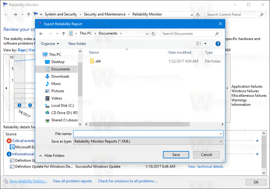 View Reliability History in Windows 10 [How to]